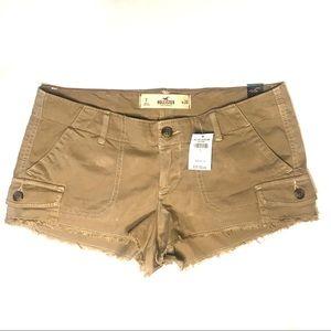 NWT Hollister Cargo Raw Hem Cargo Shorts Size 7/28